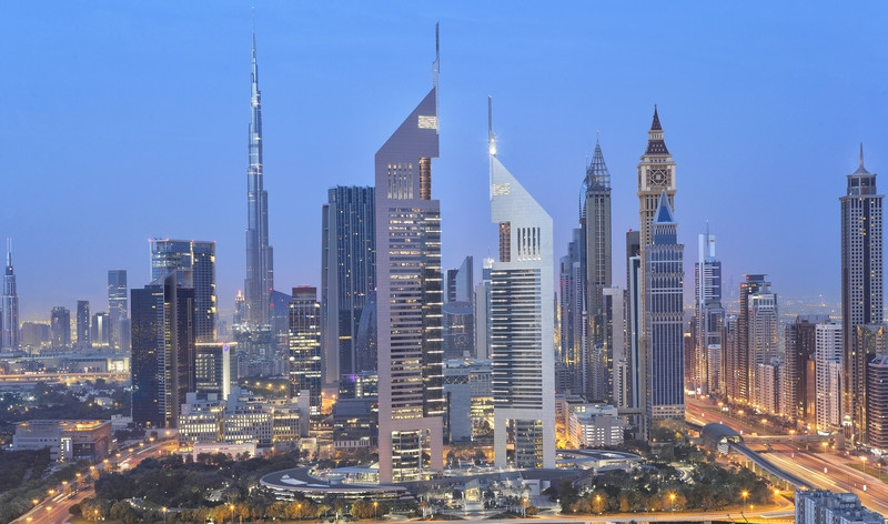 Emirates Towers skyline